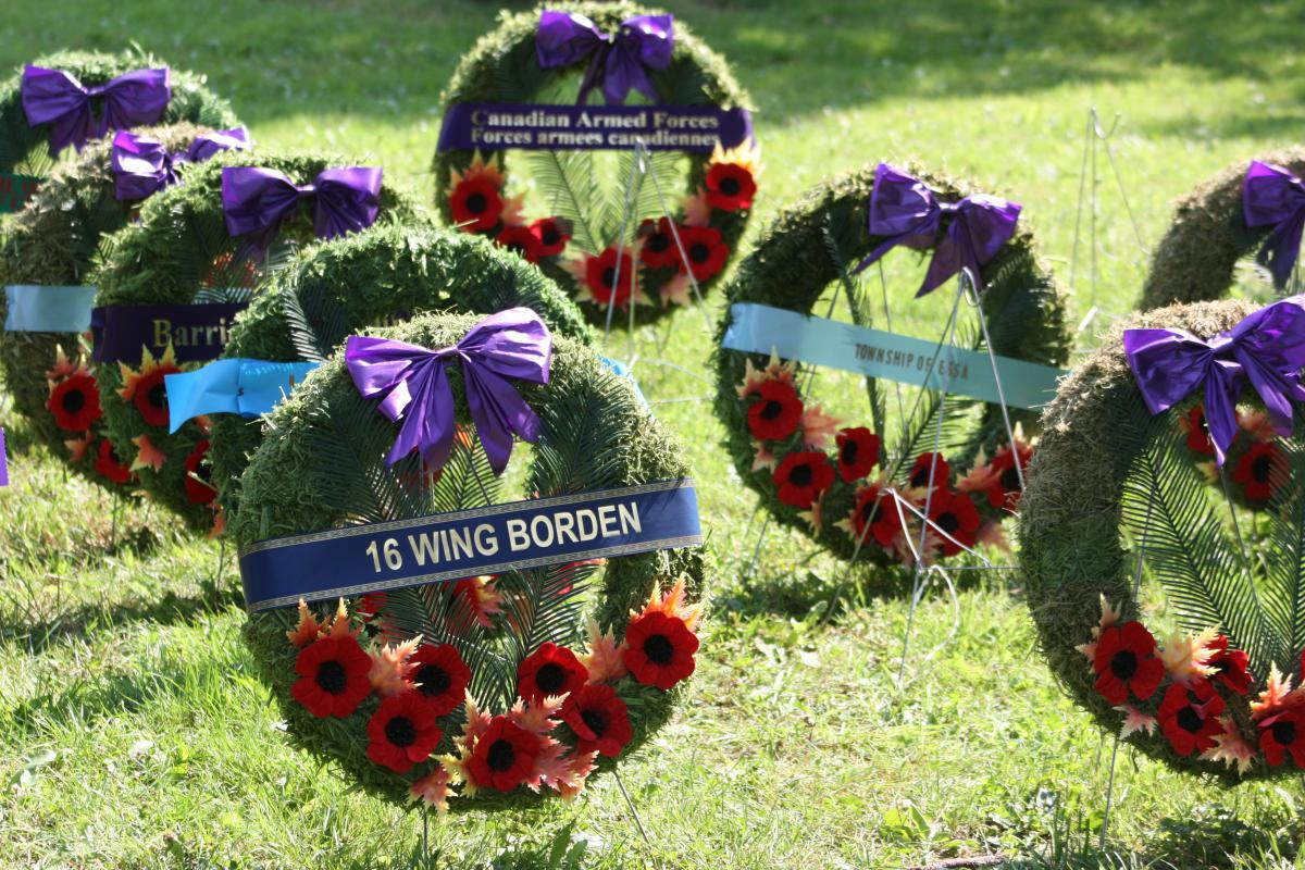 Fallen peacekeepers were remembered during the laying of the wreaths.